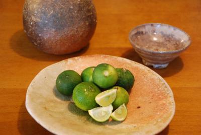沖縄産シークワーサーをさかなに一杯