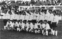 1968 Mexico City Olympics -- The Japanese men's soccer team won the bronze medal after defeating Mexico 2-0 in the third-place match.