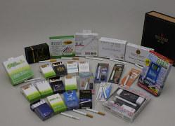 日本の電子たばこ。ニコチン含有は禁止だ=国民生活センター提供