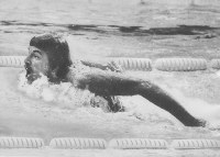 1972 Munich Olympics -- Mark Spitz, of the United States, won gold medals in seven swimming events. He earned nine Olympic gold medals in his career.
