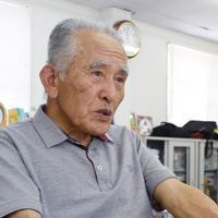 日本ALS協会愛媛県支部事務局長の佐々木和雄さん=松山市山西町で、中川祐一撮影