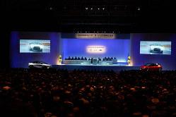 パシフィコ横浜で行われた日産自動車の株主総会=日産自動車提供