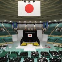 全国戦没者追悼式の会場=東京都千代田区の日本武道館で2019年8月15日午前11時26分、丸山博撮影
