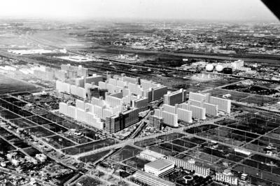 オープン前の高島平団地=1971年11月撮影(高島平新聞提供)