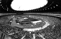 1976 Montreal Olympics -- Some 80,000 spectators gathered for the opening ceremony as Queen Elizabeth II declared the games open. A total of 92 nations and regions participated in the global event. Japan won nine gold medals including in women's volleyball.