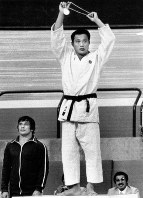 1976 Montreal Olympics -- Japan's Isamu Sonoda captured the gold medal in the middleweight division in the men's judo by defeating Valeriy Dvoinikov of the Soviet Union in the final.