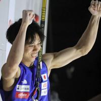 男子複合決勝、原田海のスピード=東京・エスフォルタアリーナ八王子で2019年8月21日、宮武祐希撮影