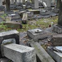 昨年、近畿地方を襲った台風21号の影響では墓地内の木々が倒れるなどし、墓石が倒壊する被害が出た=大阪市天王寺区の旧真田山陸軍墓地で2018年10月11日、平川義之撮影