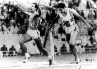 1980 Moscow Olympics -- Pietro Mennea, of Italy, wins the gold medal with a time of 20.19 seconds in the men's 200 meters by defeating Allan Wells, of Britain.