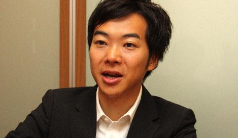 音喜多駿参院議員=2019年8月2日午前10時25分、高橋恵子撮影