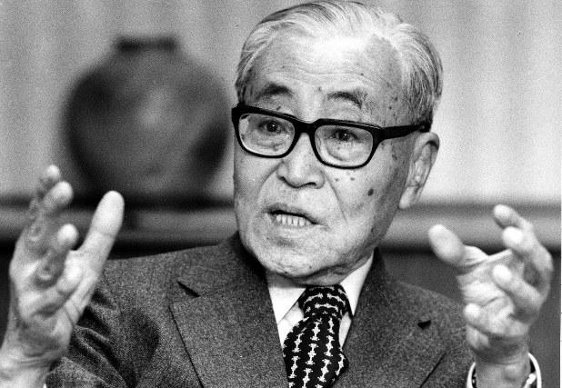 気骨のある財界人として知られた中山素平氏=1986年撮影