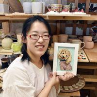 陶芸家の遠藤絢子さん=石川県白山市で、日向梓撮影