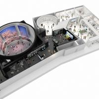 震災前から復興への歩みを、6段階で展示する「東日本大震災・原子力災害伝承館」の完成予想図=福島県提供