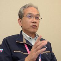 台風21号の被害を教訓に策定した新たな事業継続計画について語る、関西エアポートの石川浩司執行役員=関西国際空港で、鶴見泰寿撮影