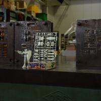 ガンプラの金型=静岡市葵区のバンダイホビーセンターで2019年9月4日午後1時21分、高場悠撮影