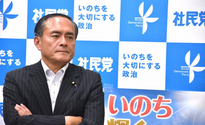 吉田忠智参院議員=須藤孝撮影