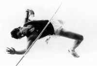 1988 Seoul Olympics -- Sergey Bubka, of the Soviet Union, competes to win the gold medal in the men's pole vault. He was honorably called
