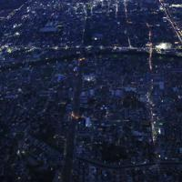 台風15号の影響で今なお続く停電=千葉県市原市で2019年9月10日午後6時16分、本社ヘリから玉城達郎撮影