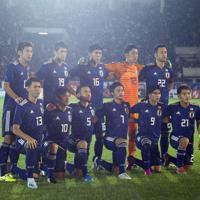 【日本-ミャンマー】日本のスターティングメンバー=ミャンマー・ヤンゴンで2019年9月10日、AP