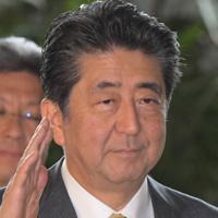 首相官邸に入る安倍晋三首相=国会内で2019年9月11日、川田雅浩撮影