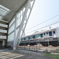 整備工事が完了してからまもなく1年になり、報道公開された「祈りの杜」=兵庫県尼崎市で2019年9月11日午後0時25分、加古信志撮影