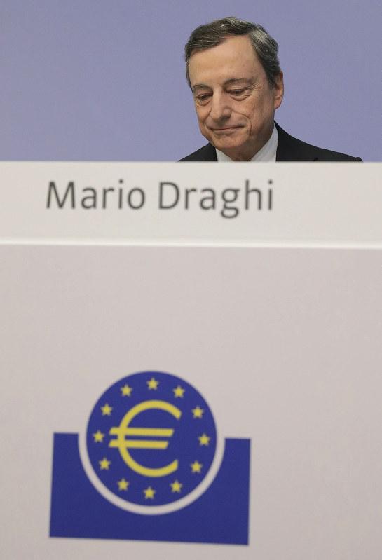 始まりはECB(ドラギ総裁) (Bloomberg)