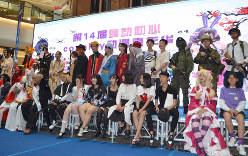 自分の好きなキャラクターのコスプレを楽しむ中国の若者たち=天津市で2019年9月7日、浦松丈二撮影