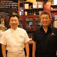 「情熱大陸」に登場する坂本良太郎(左)と坂本昌一