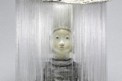 菅野有紀子「deep river」=岡村喜知郎撮影