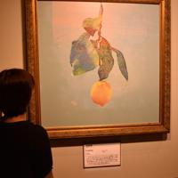 米津玄師さんの「Lemon」のCDジャケットを再現した陶板画=徳島県鳴門市の大塚国際美術館で、松山文音撮影