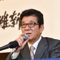 大阪市の松井一郎市長=2019年7月、望月亮一撮影