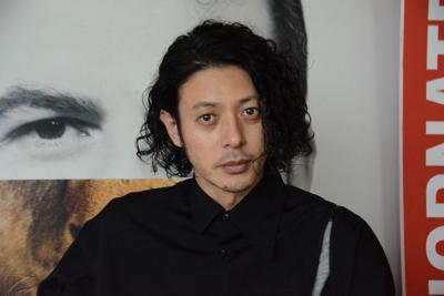 毎日新聞のインタビューに応じた俳優のオダギリジョーさん=イタリア北部ベネチア・リド島で2019年9月6日午後4時56分、井上知大撮影