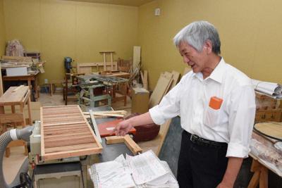 内間寅男さん=可児市塩の自宅で2019年7月11日15時7分、横田伸治撮影