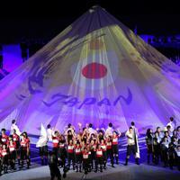 開会式で披露されたパフォーマンス=東京・味の素スタジアムで2019年9月20日、宮武祐希撮影