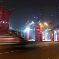 マラソンコースとして使用される予定の道路=カタール・ドーハで2019年9月24日、久保玲撮影