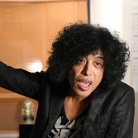 インタビューに答えるロックバンド・シアターブルックの佐藤タイジさん=東京都渋谷区で2019年9月17日、内藤絵美撮影
