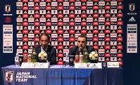 フットサル日本代表のガルシア監督(右)