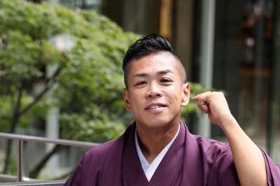 落語家の桂米紫さん=大阪市北区で、梅田麻衣子撮影