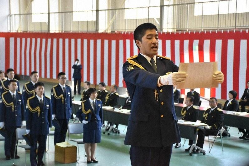 地域に精神学んだ」 県警察学校卒業式 /岩手   毎日新聞