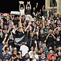 【ニュージーランド-カナダ】試合前に盛り上がるスタジアムの観客=昭和電工ドーム大分で2019年10月2日、竹内紀臣撮影