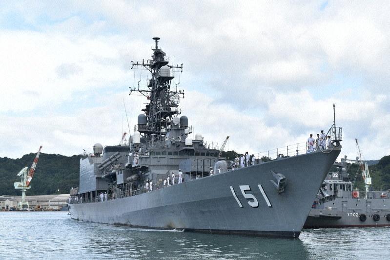 護衛艦「あさぎり」、半年ぶり帰還 ソマリアから 舞鶴 /京都 | 毎日新聞