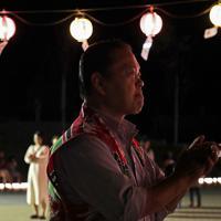 納涼祭を開いた鵜住居商店会の野村周司会長=岩手県釜石市で2019年9月23日、和田大典撮影