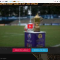 不正広告から誘導されるラグビー・ワールドカップの偽の動画配信サイト(トレンドマイクロ提供)