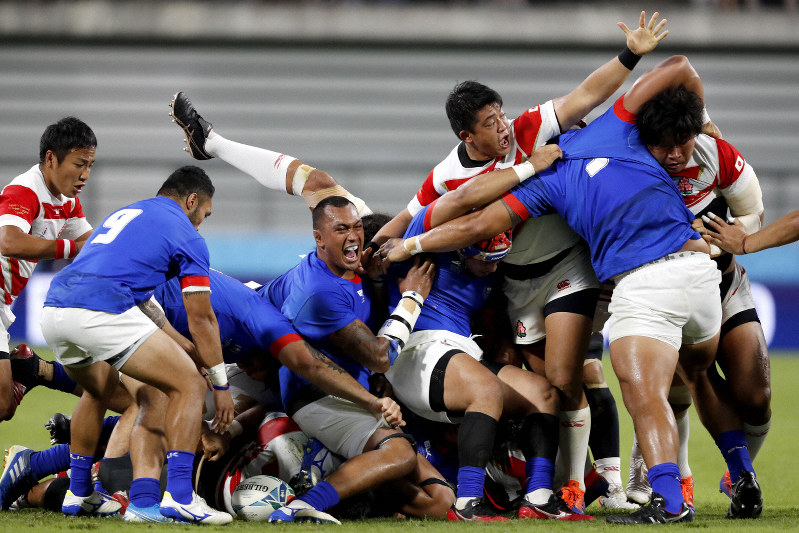Rugby: Japan beat Samoa 38-19 at World Cup