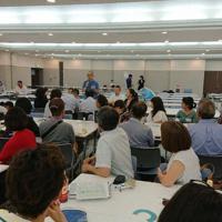 全国から保護者や教員らが参加した「PTAフォーラム」=神戸市内で2019年8月、大和田香織撮影