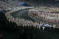 2004 Athens Olympics -- Athens hosts the Olympics for the first time in 108 years since the first modern Olympic Games was held in 1896. Japan won 16 gold, nine silver and 12 bronze medals in the global event. (Mainichi/Tsutomu Koseki)