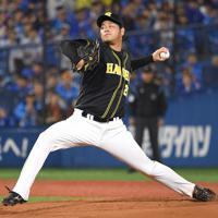 【DeNA-阪神】阪神先発の高橋遥人=横浜スタジアムで2019年10月7日、丸山博撮影