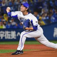 【DeNA―阪神】DeNA先発の平良=横浜スタジアムで2019年10月7日、丸山博撮影
