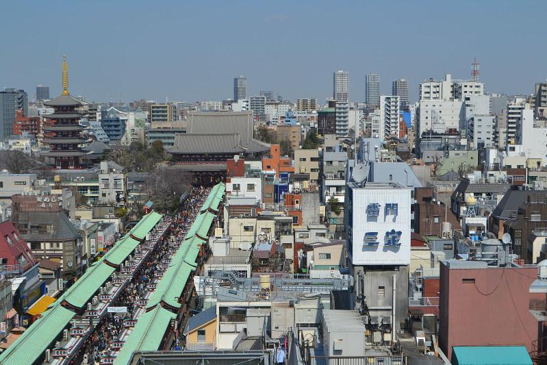 地価が上昇している台東区