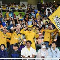 【オーストラリア-ジョージア】試合開始を前に盛り上がる観客たち=静岡スタジアムで2019年10月11日、竹内紀臣撮影